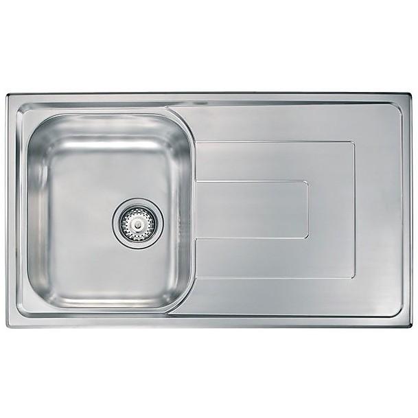 "010143 cm lavello inox como 3"" 86x50 1 vasca a sinistra"