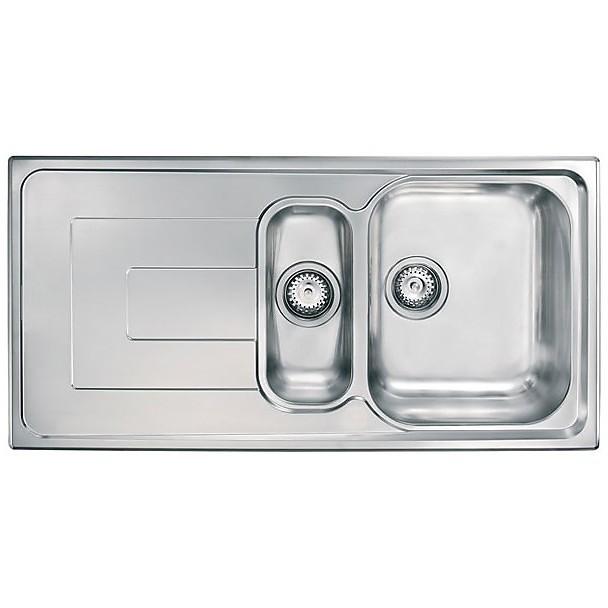 """010145 cm lavello inox como 3"""" 100x50 2 vasche a destra"""