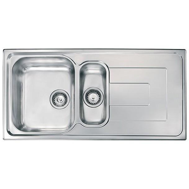 """010145 cm lavello inox como 3"""" 100x50 2 vasche a sinistra"""