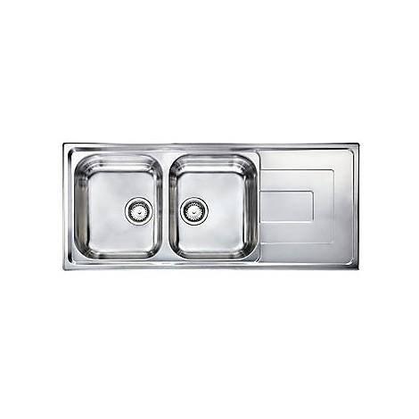 """010147 cm lavello inox como 3"""" 116x50 2 vasche a sinistra"""