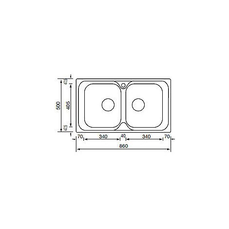 "010594 cm lavello inox atlantic 3"" 86x50 2 vasche antigraffio"