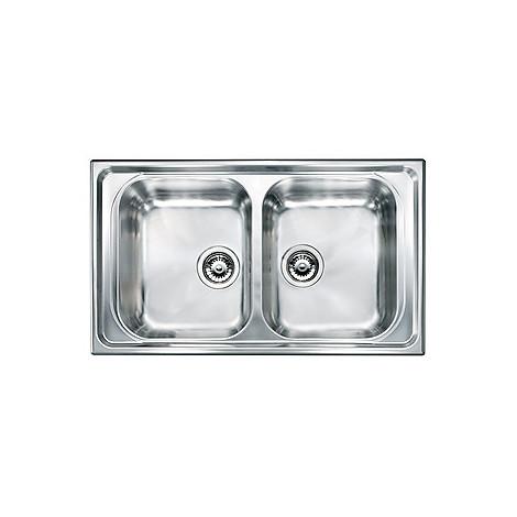 "010744 cm lavello inox battigia 3"" 86x50 2 vasche"