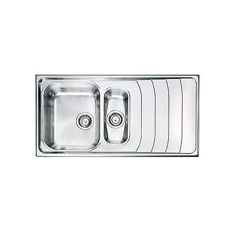 "010745 cm lavello inox battigia 3"" 100x50 2 vasche a sinistra"
