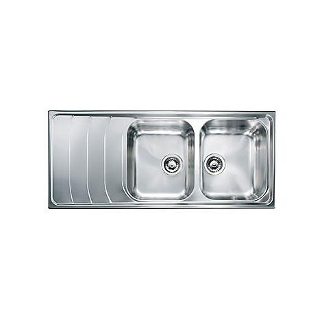 "010747 cm lavello inox battigia 3"" 116x50 2 vasche a destra"