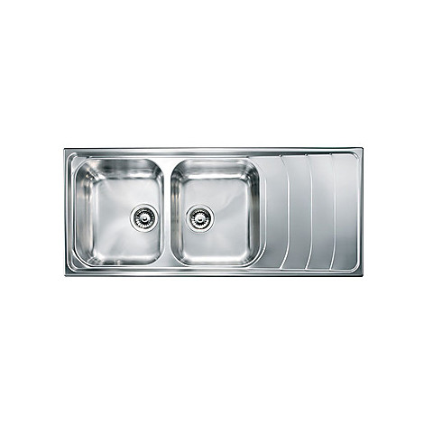 "010747 cm lavello inox battigia 3"" 116x50 2 vasche a sinistra"