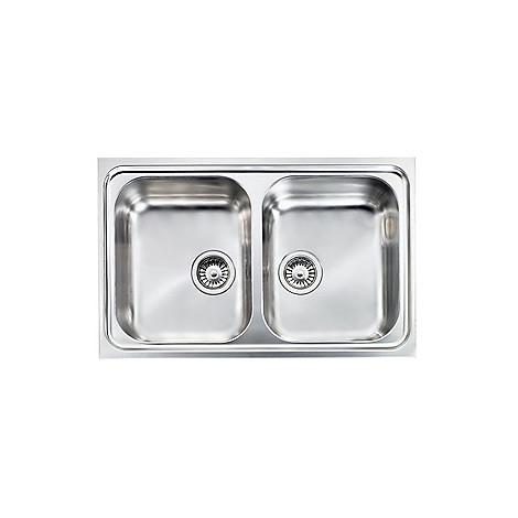 """011202 cm lavello inox filoslim 3"""" 79x50 2 vasche"""