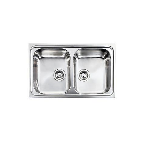 """011252 cm lavello inox zenith plus 3"""" 79x50 2 vasche"""