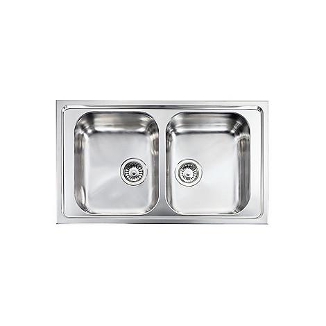 """011254 cm lavello inox zenith plus 3"""" 86x50 2 vasche"""