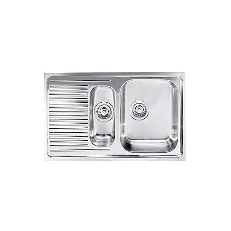 """011641 cm lavello inox matico 3"""" 79x50 2 vasche a destra"""