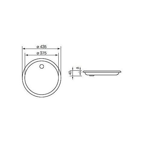 011931 cm lavello inox cinzia piatto 43,5 con sifone 1 via