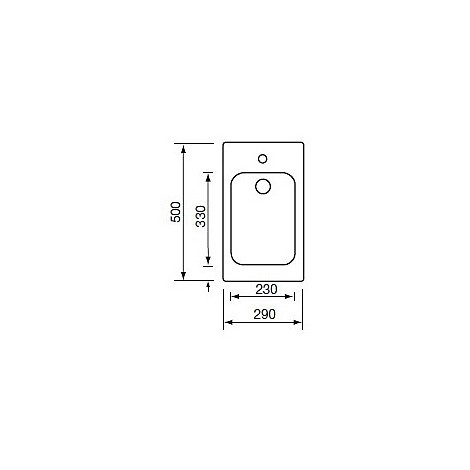 011932 cm lavello inox cinzia 29x50 con sifone 1 via