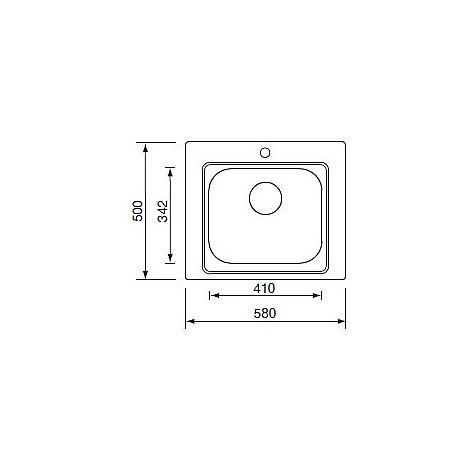011935 cm lavello inox cinzia 58x50 con sifone 1 via