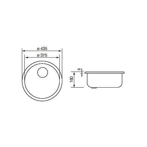 011939 cm lavello inox cinzia rotondo con sifone 1 via