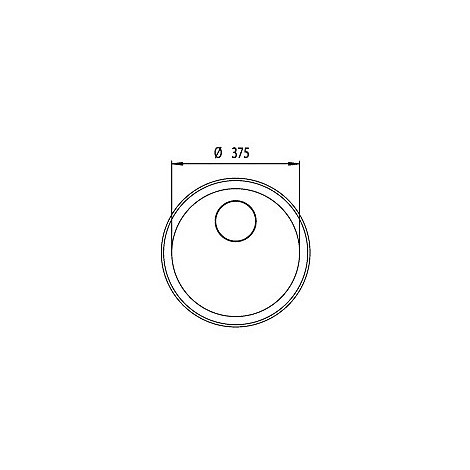"""011951 cm lavello inox cinzia 3"""" rotondo sottotop con sifone 1 via"""