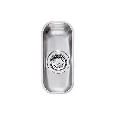 """011952 cm lavello inox cinzia 3"""" 14,5x33,5 sottotop con sifone 1 via"""
