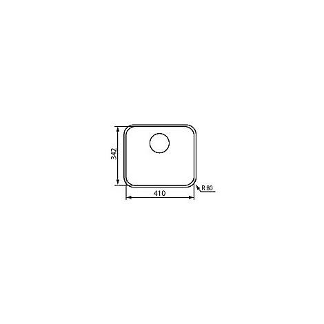 """011973 cm lavello inox cinzia 3"""" 34,2x41"""