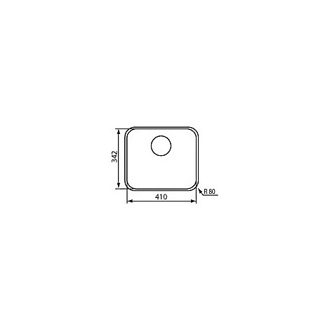 """011993 cm lavello inox cinzia 3"""" 34,2x41"""