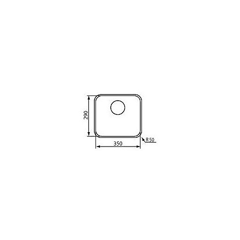 """011994 cm lavello inox cinzia 3"""" 35x29"""