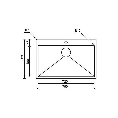 "012046 cm lavello inox filo rag minox 3"" 76x50x19 incasso slim"