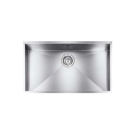 "012206 cm lavello inox filo quadra 8 3"" 77x45x19  incasso bordo 8mm"