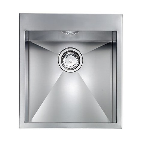 "012221 cm lavello inox filo quadra minox 8 3"" 45x50x19  incasso bordo 8mm"