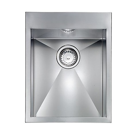 "012224 cm lavello inox filo quadra minox 8 3"" 39x50x19  incasso bordo 8mm"