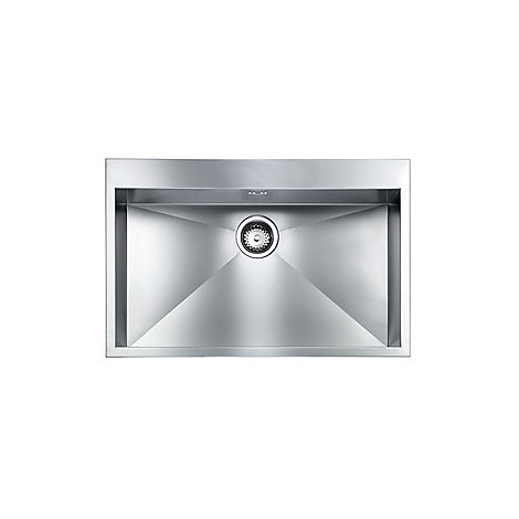 "012226 cm lavello inox filo quadra minox 8 3"" 77x50x19  incasso bordo 8mm"