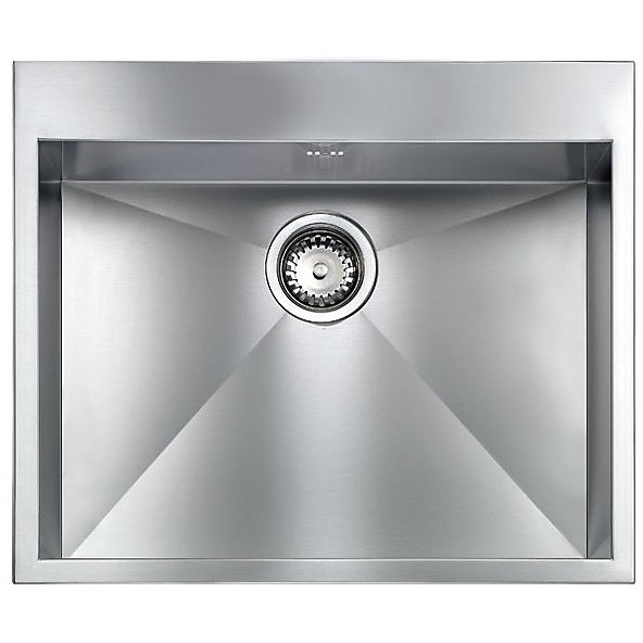 "012228 cm lavello inox filo quadra minox 8 3"" 57x50x19  incasso bordo 8mm"
