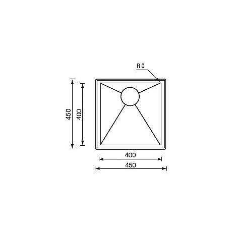 "012244 cm lavello inox filo quadra std 3"" 39x45x19 incasso"