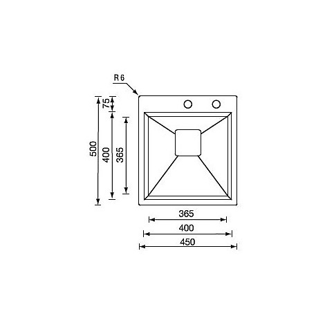 "012821 cm lavello inox glamour minox 3"" 45x50x19"