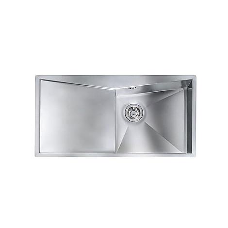 """012866 cm lavello inox space 3"""" 100x50 1 vasca a destra con piletta automatica"""