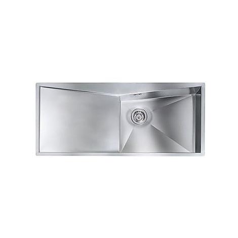 """012869 cm lavello inox space 3"""" 116x50 1 vasca a destra con piletta automatica"""
