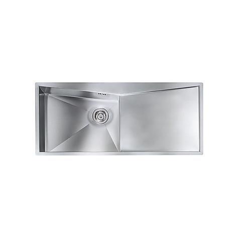 """012869 cm lavello inox space 3"""" 116x50 1 vasca a sinistra con piletta automatica"""