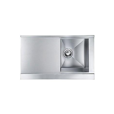 """012993 cm lavello inox anthea 3"""" 86x51 1 vasca a destra 2 fori con pilietta automatica"""