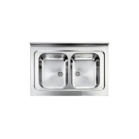 031134 cm lavello inox rossana 90x60 2 vasche