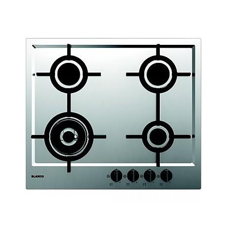 1046104 elite 6x5-4 blanco piano cottura da 60 cm 4 fuochi a gas inox sopratop 4 mm