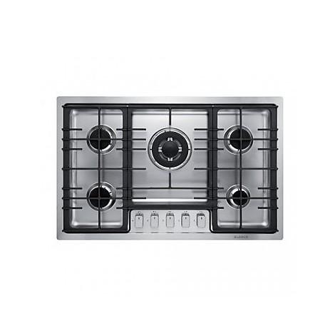 1104124 filotop 7x5-5 blanco piano cottura 75 cm 5 fuochi a gas inox sopratop 4 mm