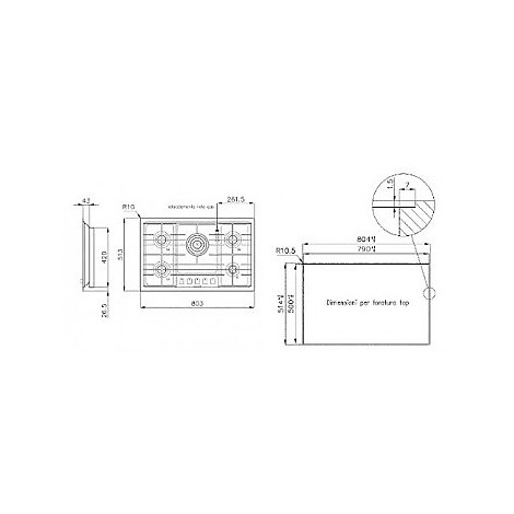 1104125 filotop 7x5-5 blanco piano cottura 75 cm 5 fuochi a gas inox sopratop 10 mm