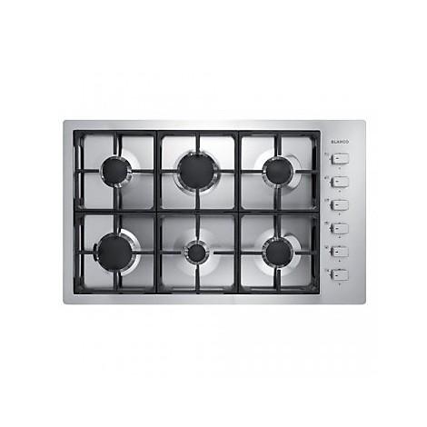 1104129 filotop 9x5-6 blanco piano cottura 90 cm 6 fuochi a gas inox sopratop 10 mm