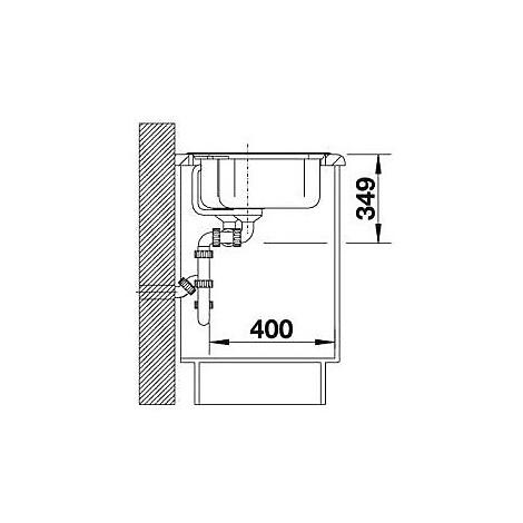 1217075 nova 8 avana blanco lavello 86x50 2 vasche senza sgocciolatoio silgranit