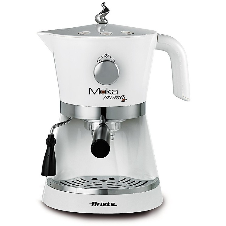1337 ariete macchina del caffe' moka aroma espresso bianca