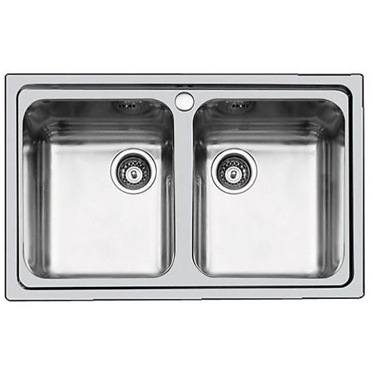 1372060 s3000 foster lavello 790x500 mm 2 vasche inox - Cappe e ...