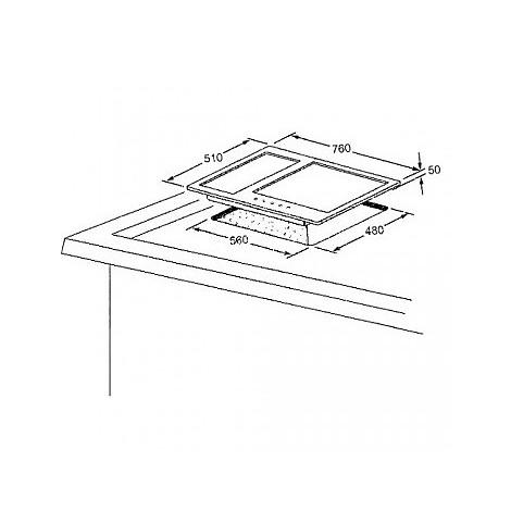 1400076 quadro 7x5-5 blanco piano cottura da 75 cm 5 fuochi a gas inox