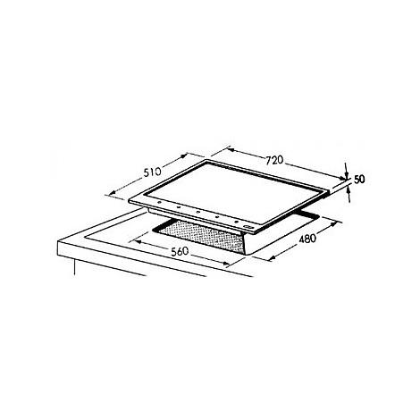 1407102 elegance 7x5-5 blanco piano cottura 75 cm 5 fuochi a gas 75 cm alumetallic
