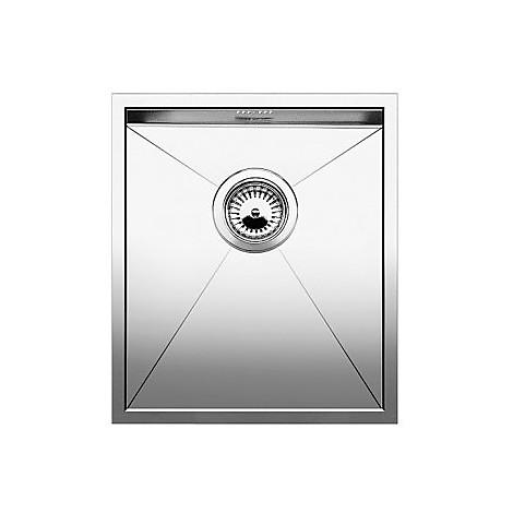 1417238 zerox 340-if 10 mm blanco lavello 38x44 1 vasca senza sgocciolatoio inox satinato