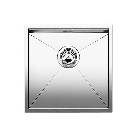 1417240 zerox 400-if 10 mm blanco lavello 44x44 1 vasca senza sgocciolatoio inox satinato