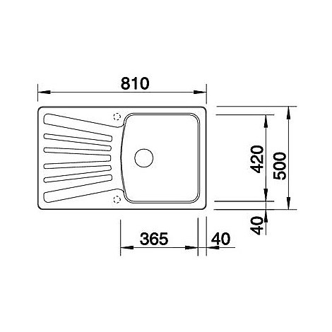 1510438 nova 45 s bianco blanco lavello 81x50 1 vasca reversibile silgranit