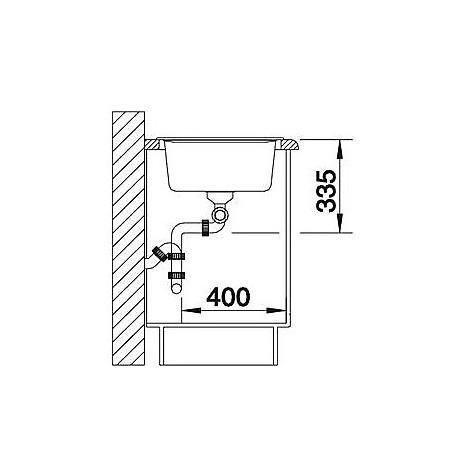 1510463 nova 8 s antracite blanco lavello 116x50 2 vasche reversibile silgranit