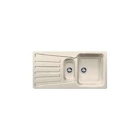 1510489 nova 6 s sabbia blanco lavello 100x50 2 vasche reversibile silgranit