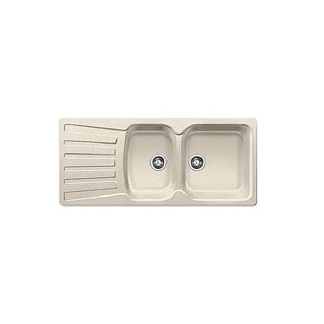 1510493 nova 8 s sabbia blanco lavello 116x50 2 vasche reversibile silgranit